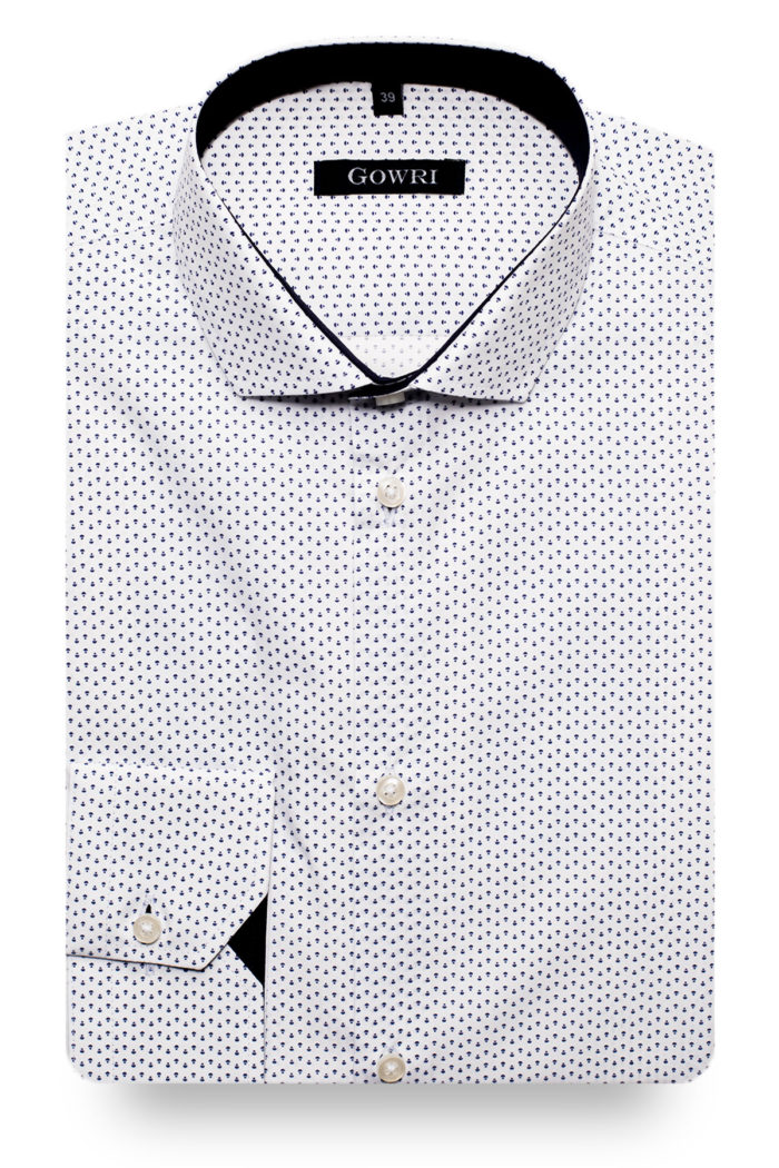 Aylesbury White Patterned Shirt