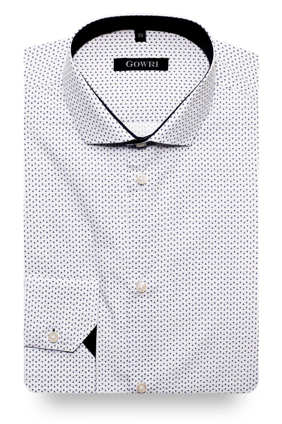 Aylesbury White Patterned Shirt