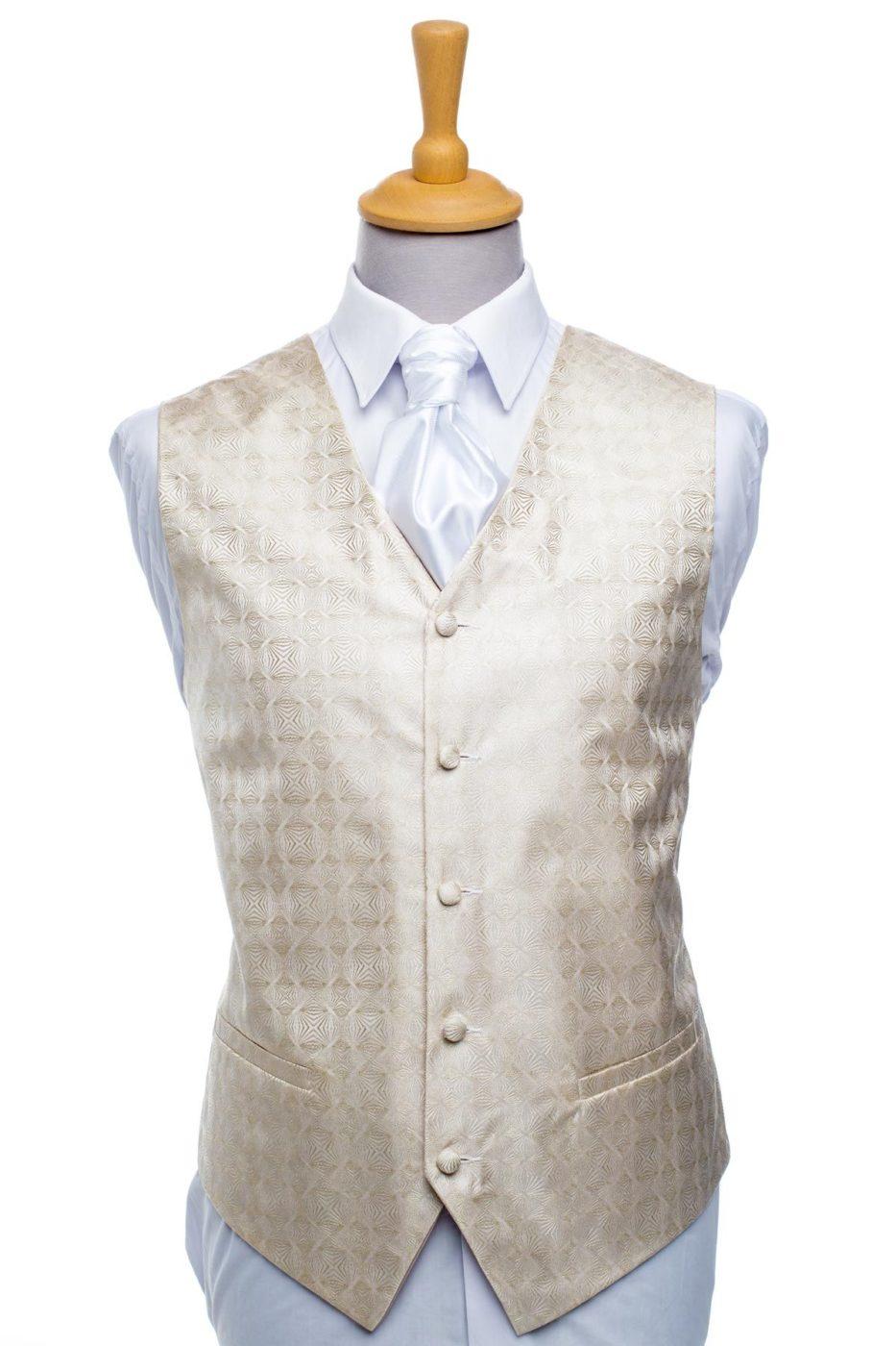 Beige Diamond Waistcoat