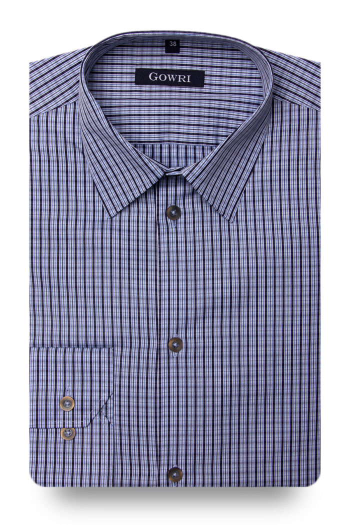 Bergamo Blue Checked Shirt