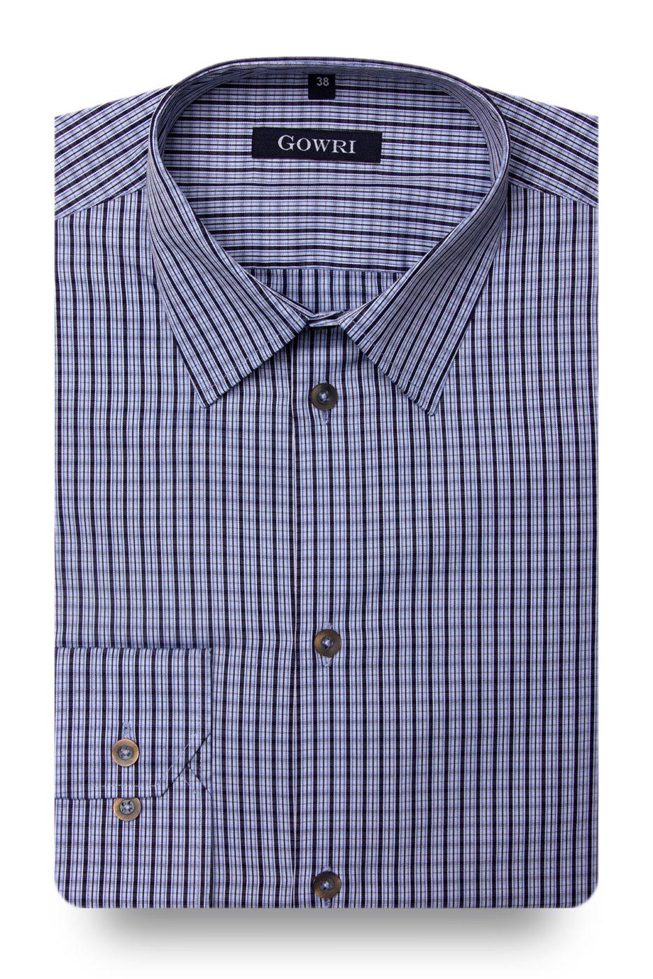 Bergamo Blue Checked Shirt