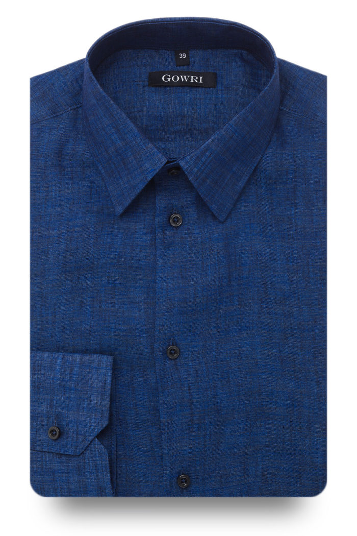 Berlino Navy Linen Shirt