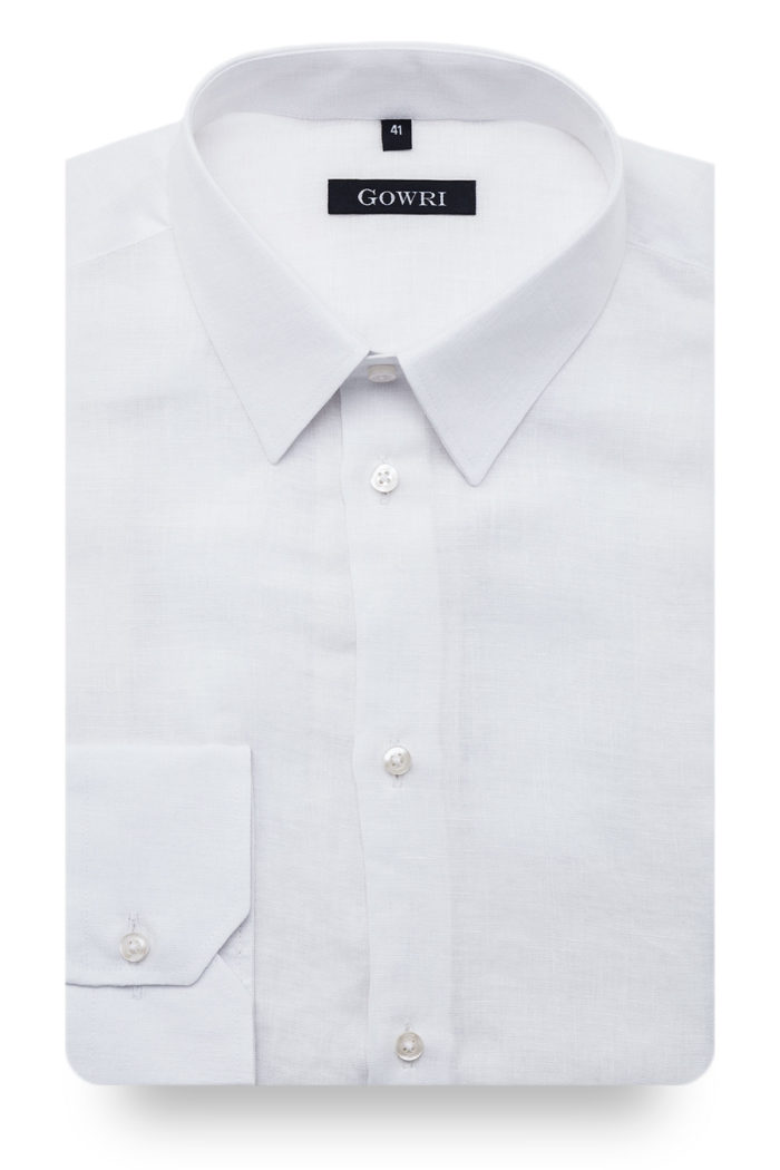 Berlino White Linen Shirt