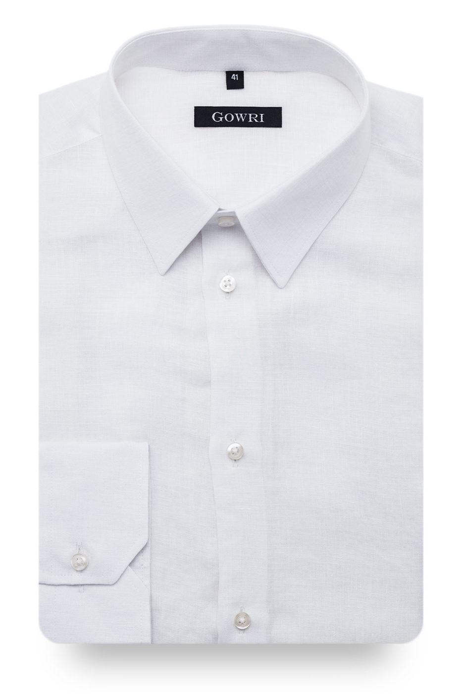 Berlino White Linen Shirt