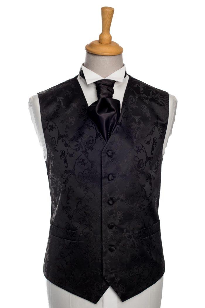 Black Swirl Waistcoat