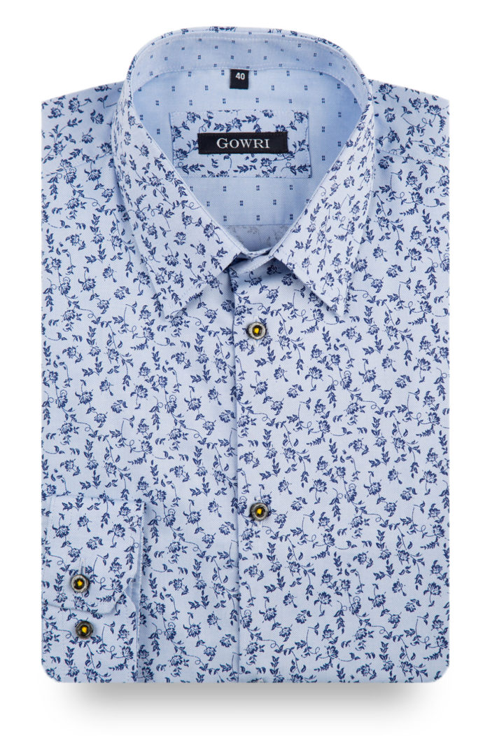 Botany Bay Blue Patterned Shirt
