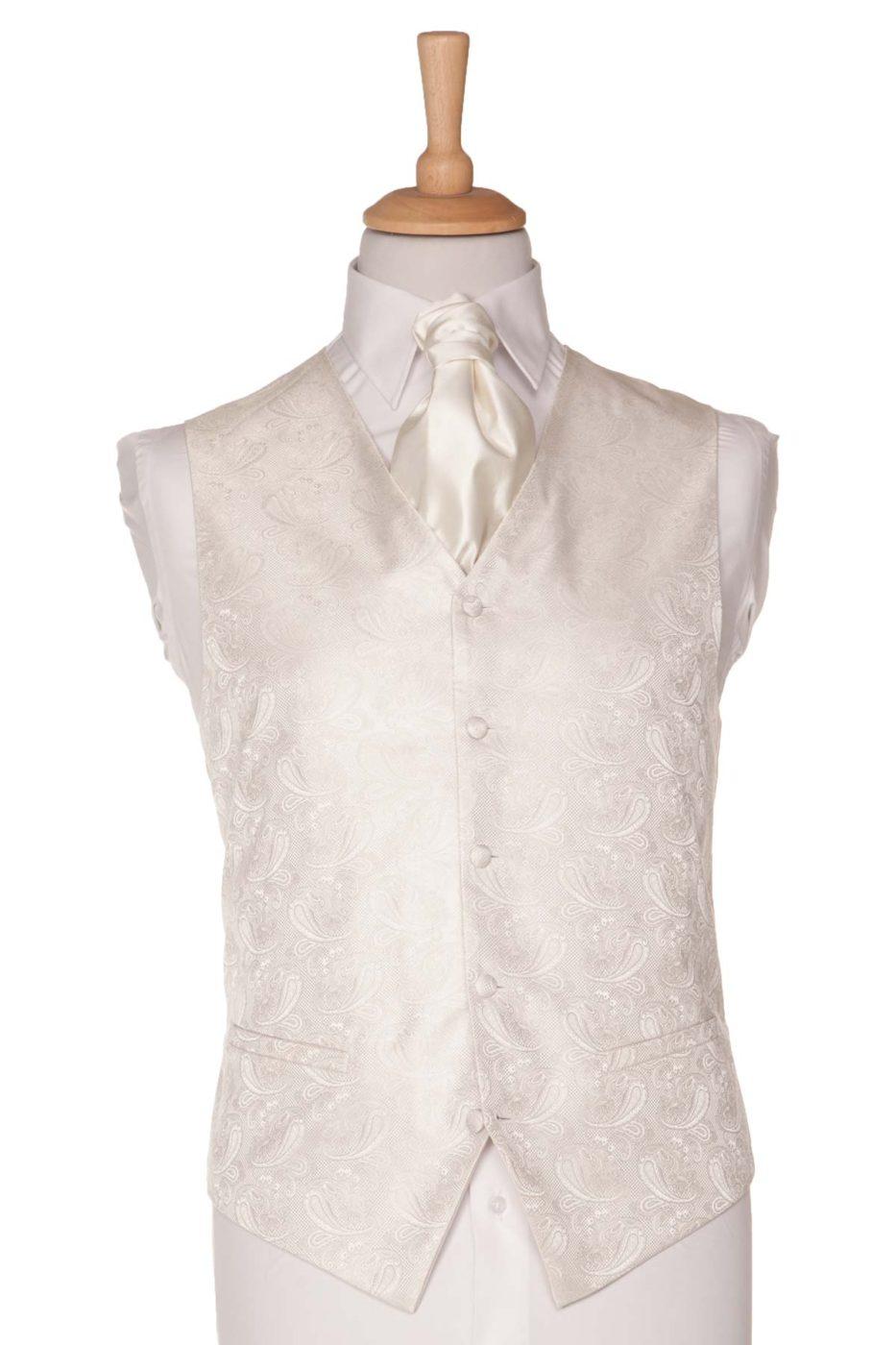 Cream Paisley Waistcoat