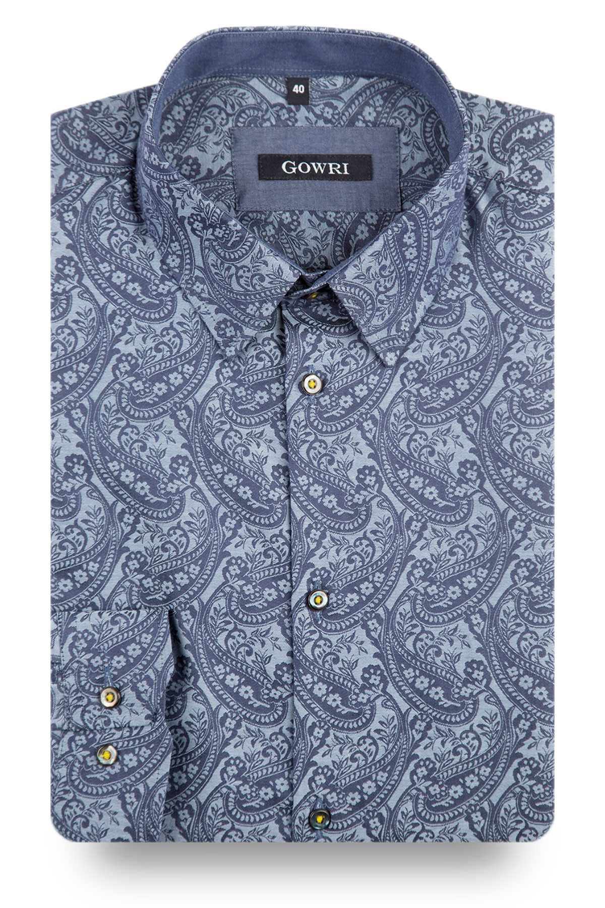 Davidson Blue Patterned Shirt
