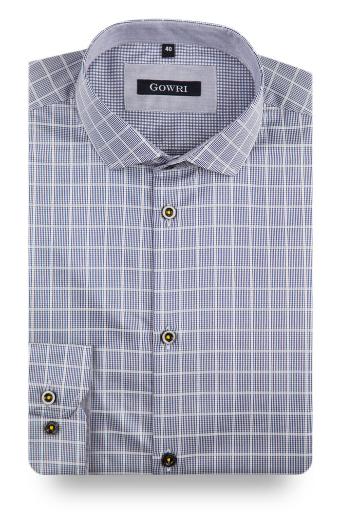 Deauville Silver Checked Shirt