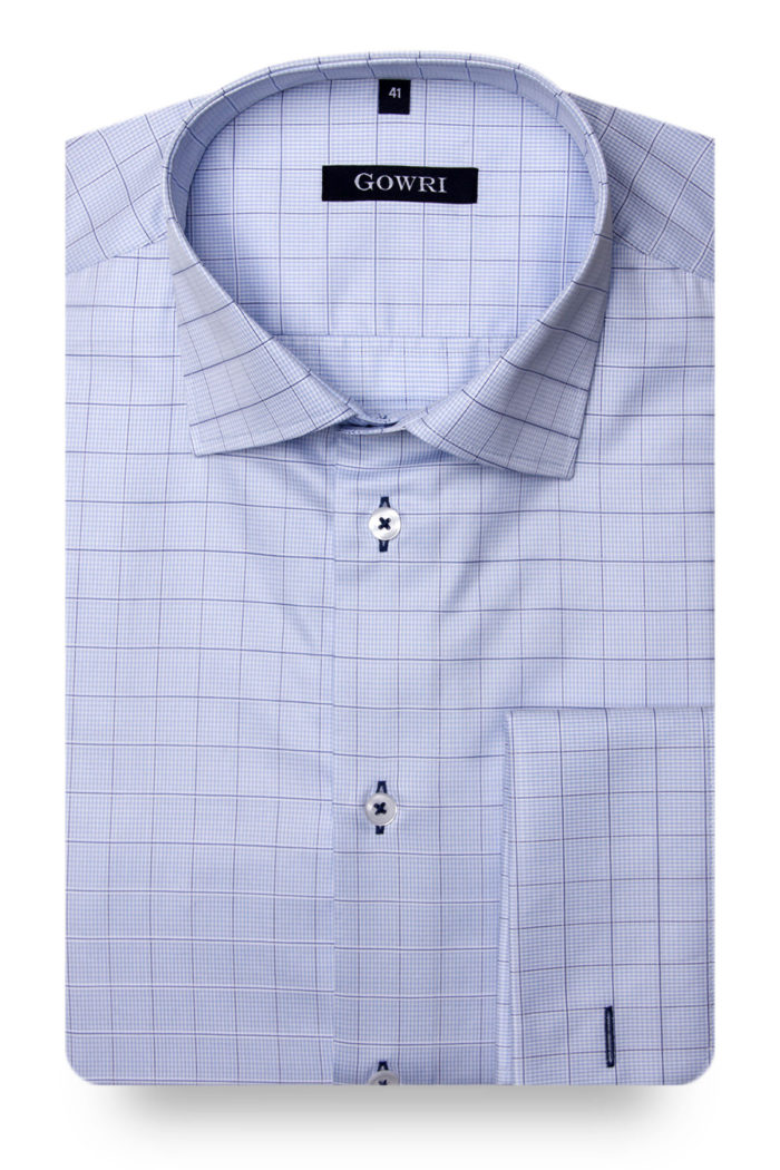 Duca Light Blue Checked Shirt