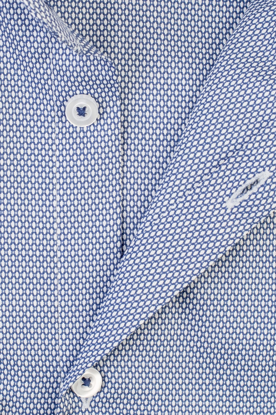 Fiore Blue Patterned Shirt (1)