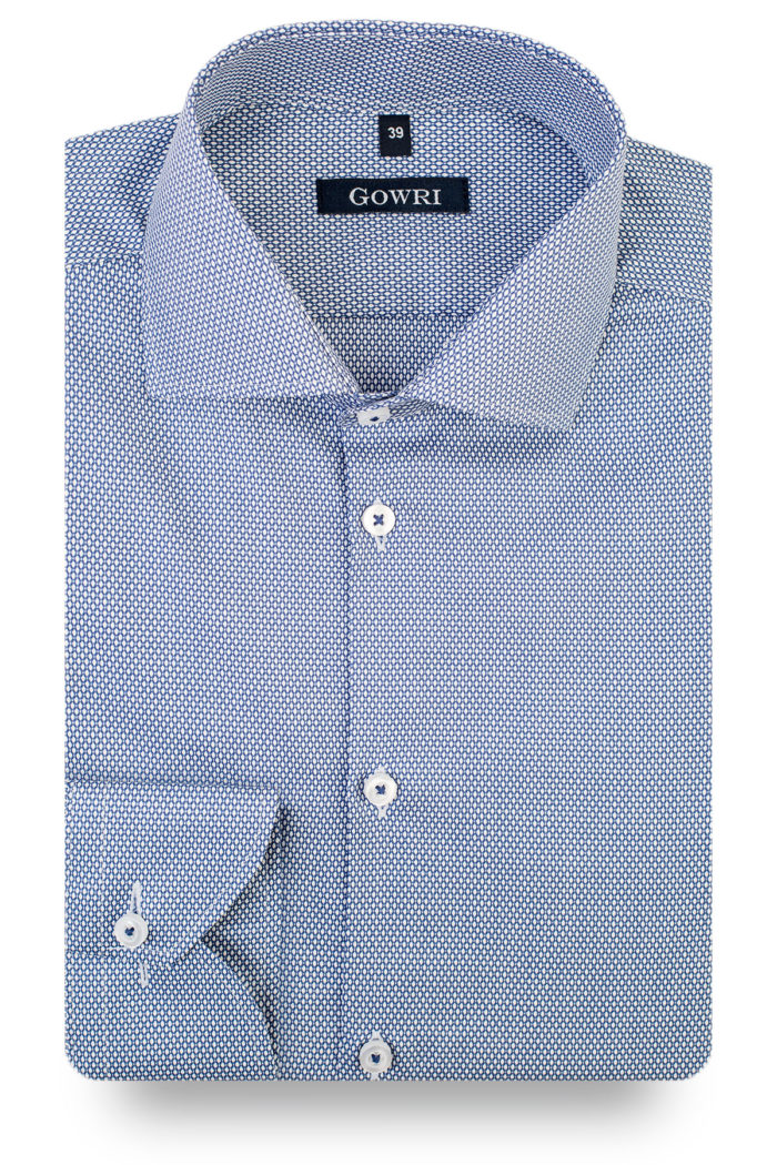 Fiore Blue Patterned Shirt (2)