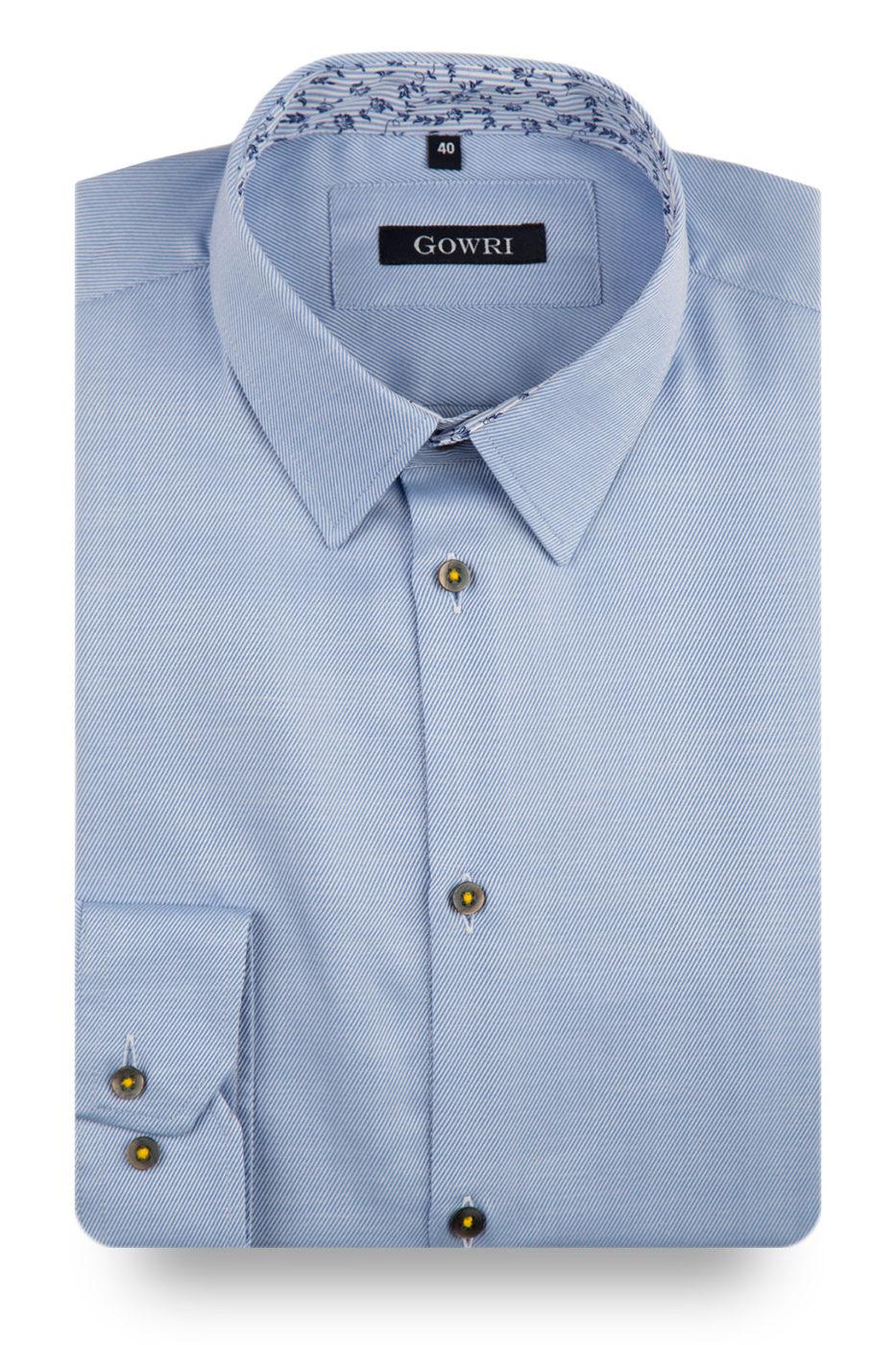 Flower Blue Shirt