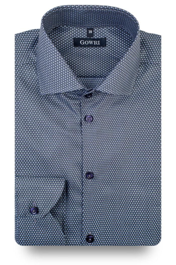 Fokus Dark Grey Patterned Shirt (2)