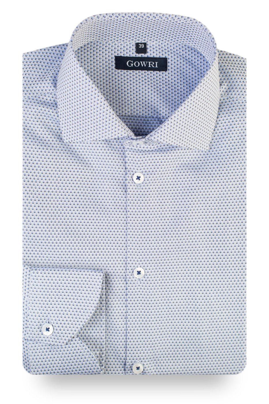 Fokus Grey Patterned Shirt (1)