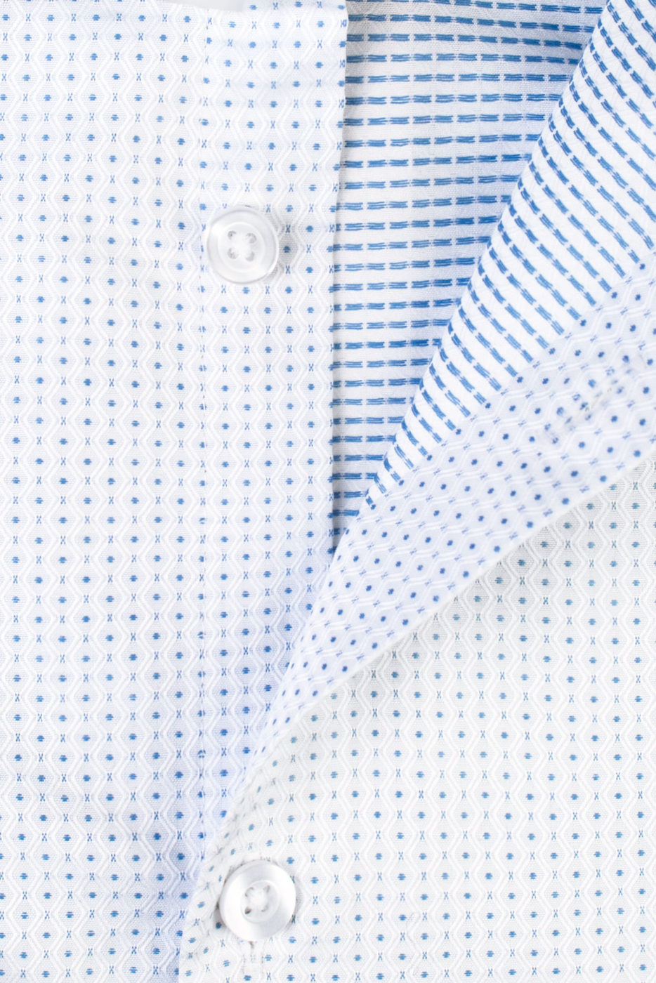 Fokus Light Blue Patterned Shirt (1)