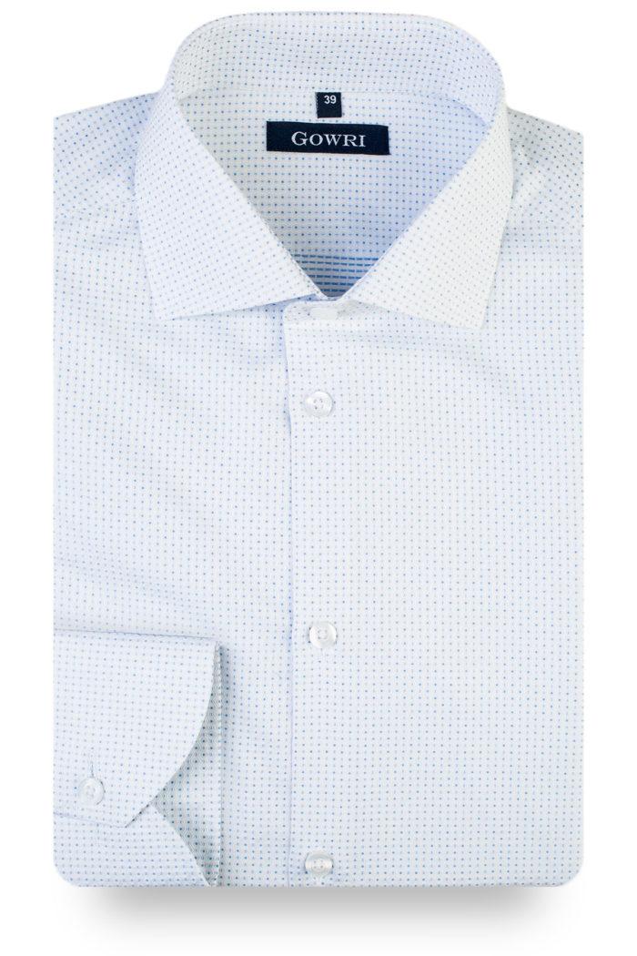 Fokus Light Blue Patterned Shirt (2)