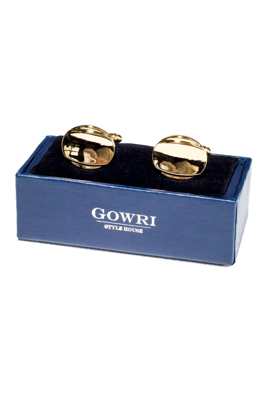 Golden Oval Cufflinks