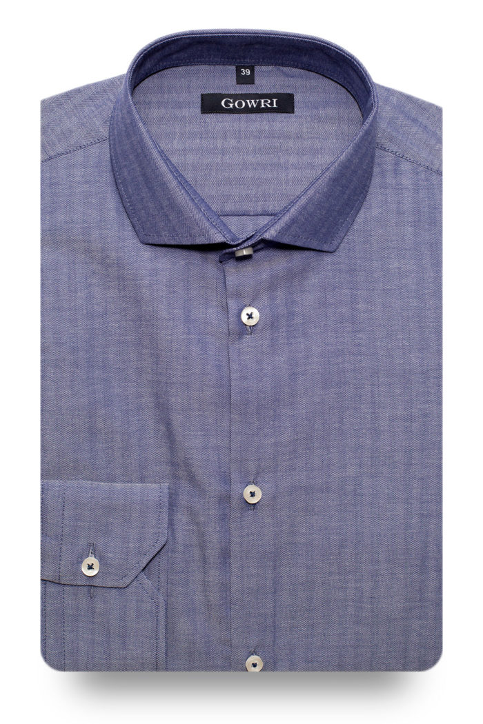 Herringbone Blue Shirt