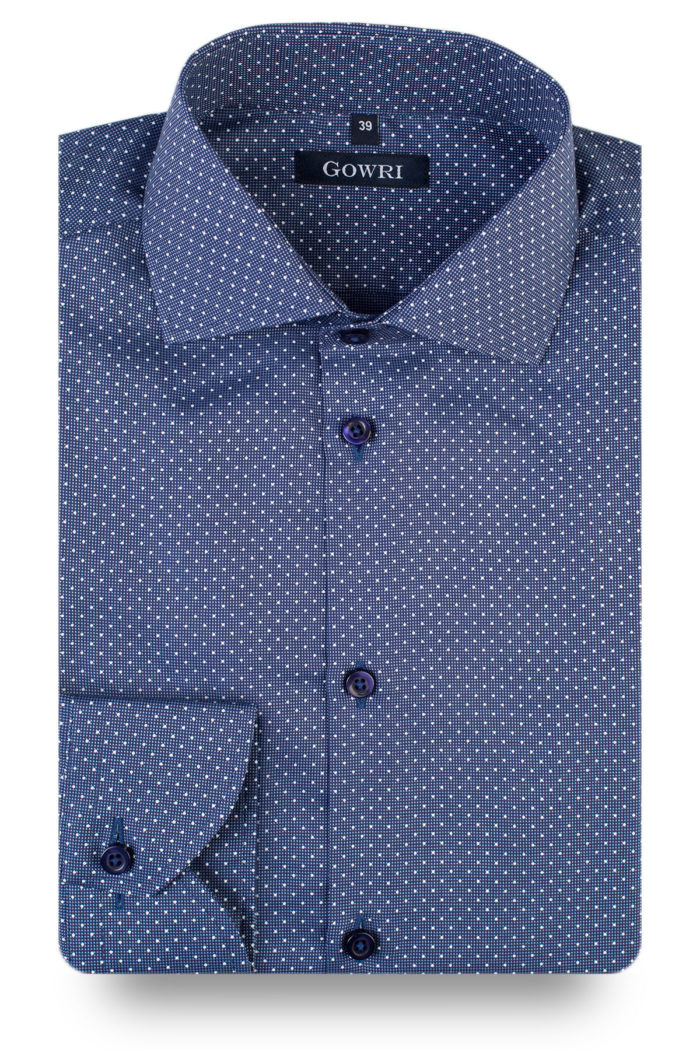 Magnus Blue Dotted Shirt (2)