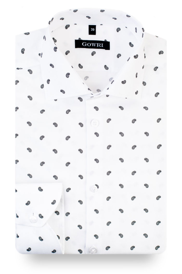 Magnus White Patterned Shirt (1)