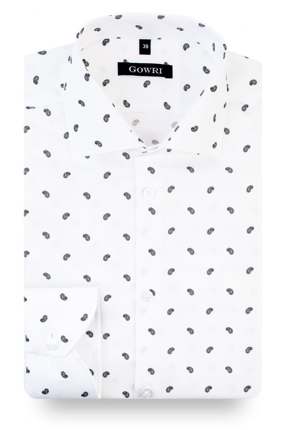 Magnus White Patterned Shirt (1)