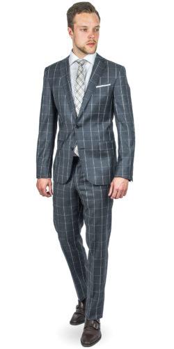 Maverick Grey Checked Suit 170814092018 (1)