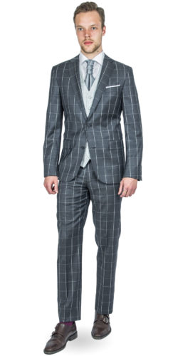 Maverick Grey Checked Suit 170814092018 (2)