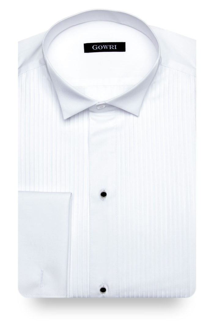 Poplin Tuxedo Shirt (buttonless)