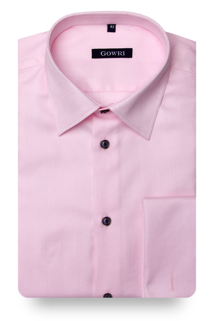 Royal Herringbone Pink Shirt