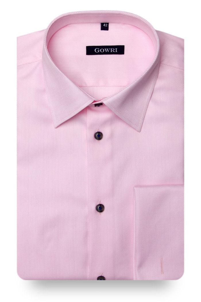 Royal Herringbone Pink Shirt
