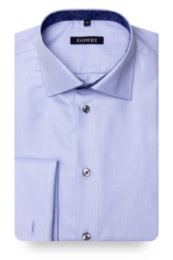 Royal Mini Herringbone Blue Shirt