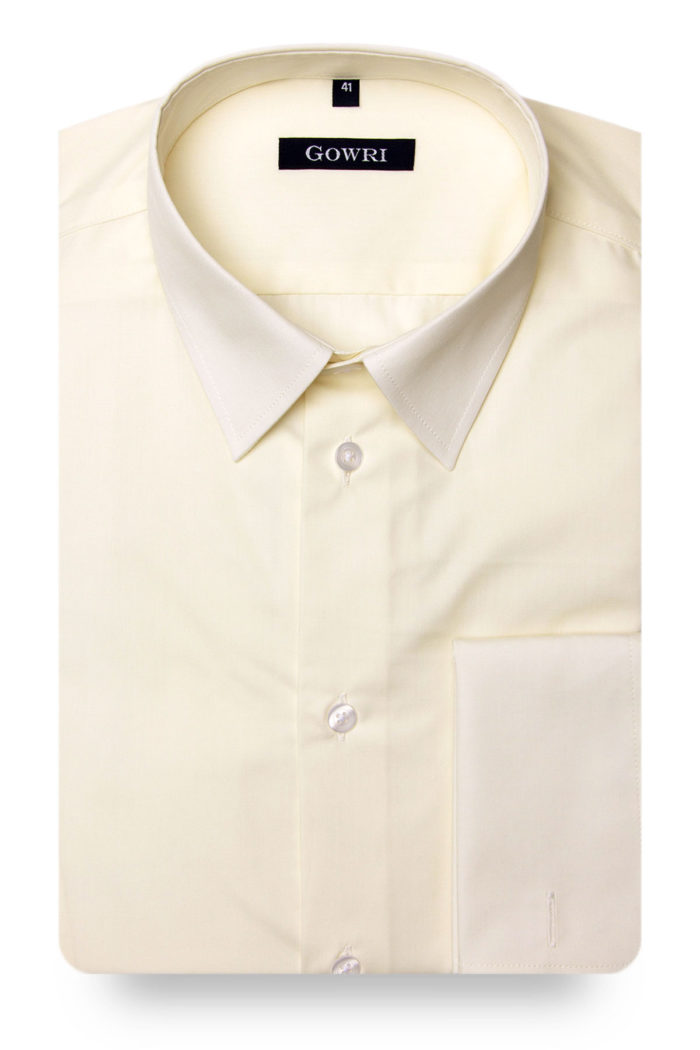 Royal Poplin Light Yellow Shirt