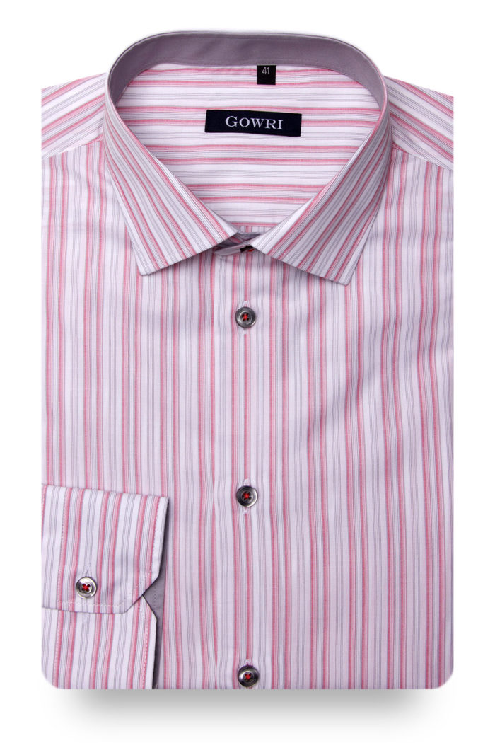 San Marco Pink Striped Shirt
