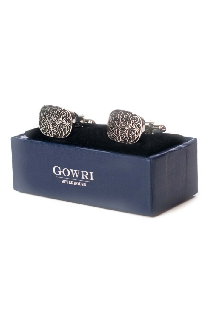 Silver Patterned Cufflinks
