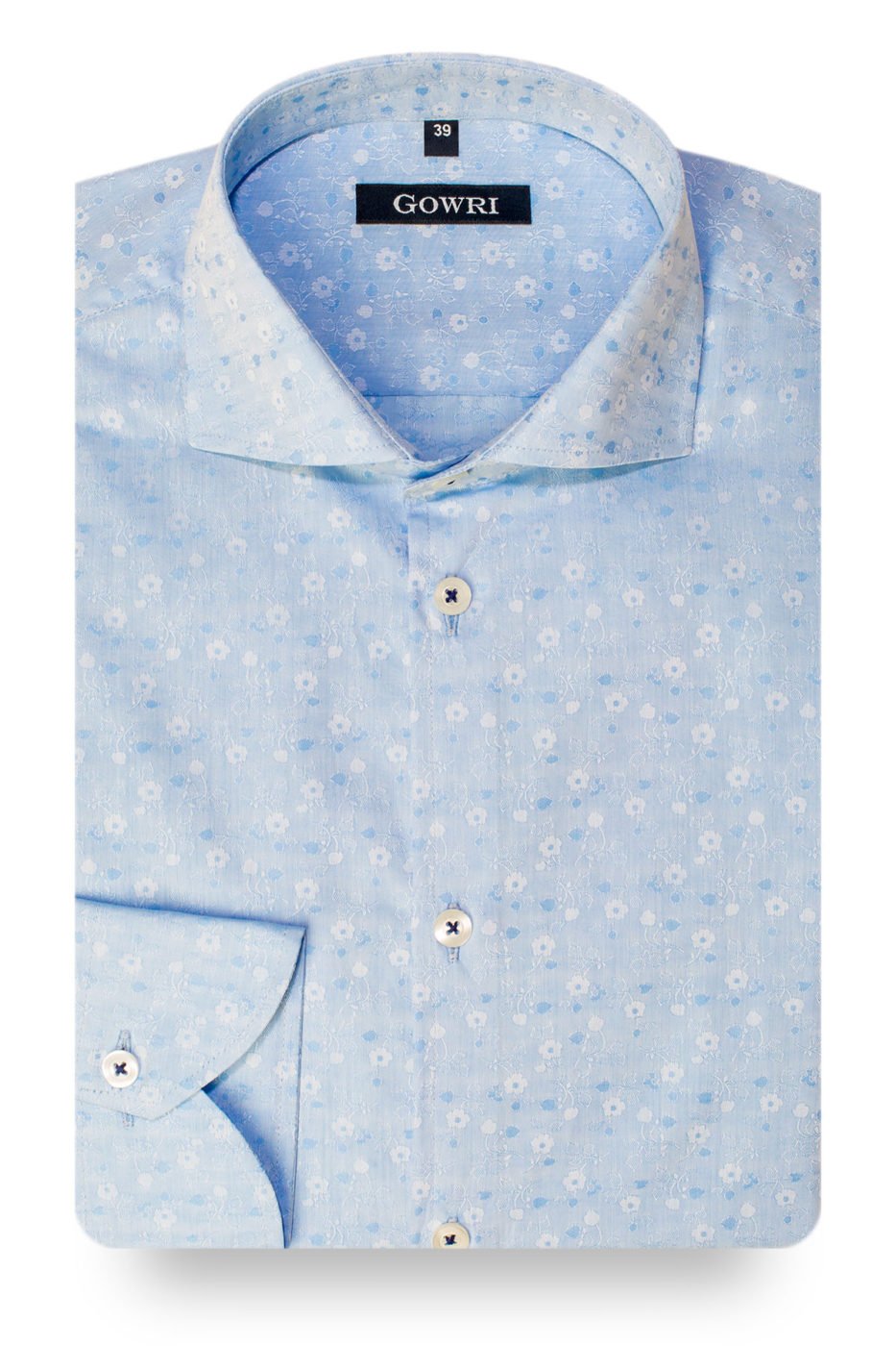 Springfield Light Blue Patterned Shirt (1)