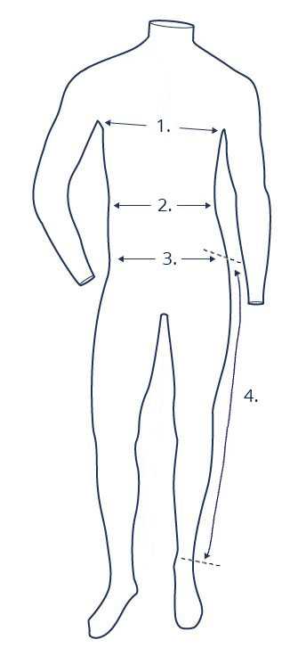 Suit size guide