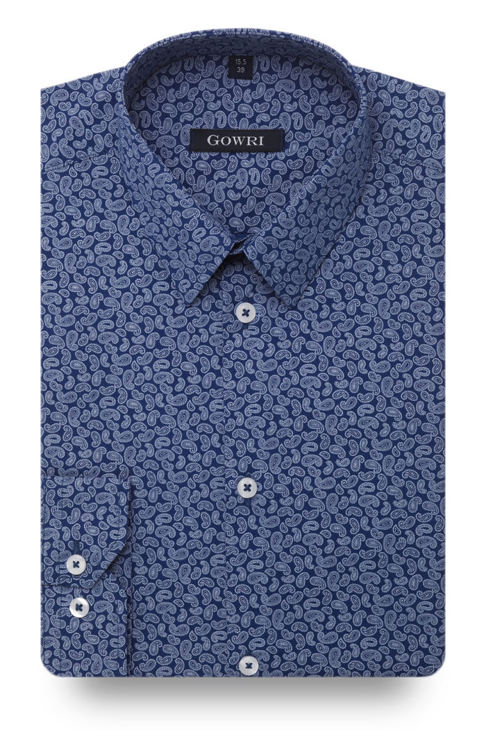 Torquay Blue Patterned Shirt
