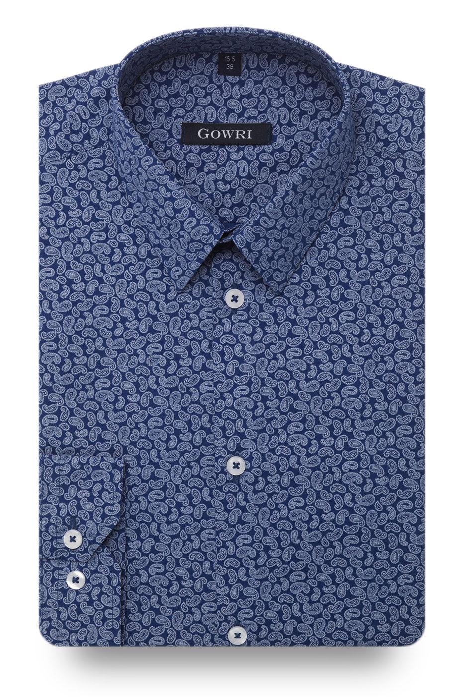 Torquay Blue Patterned Shirt
