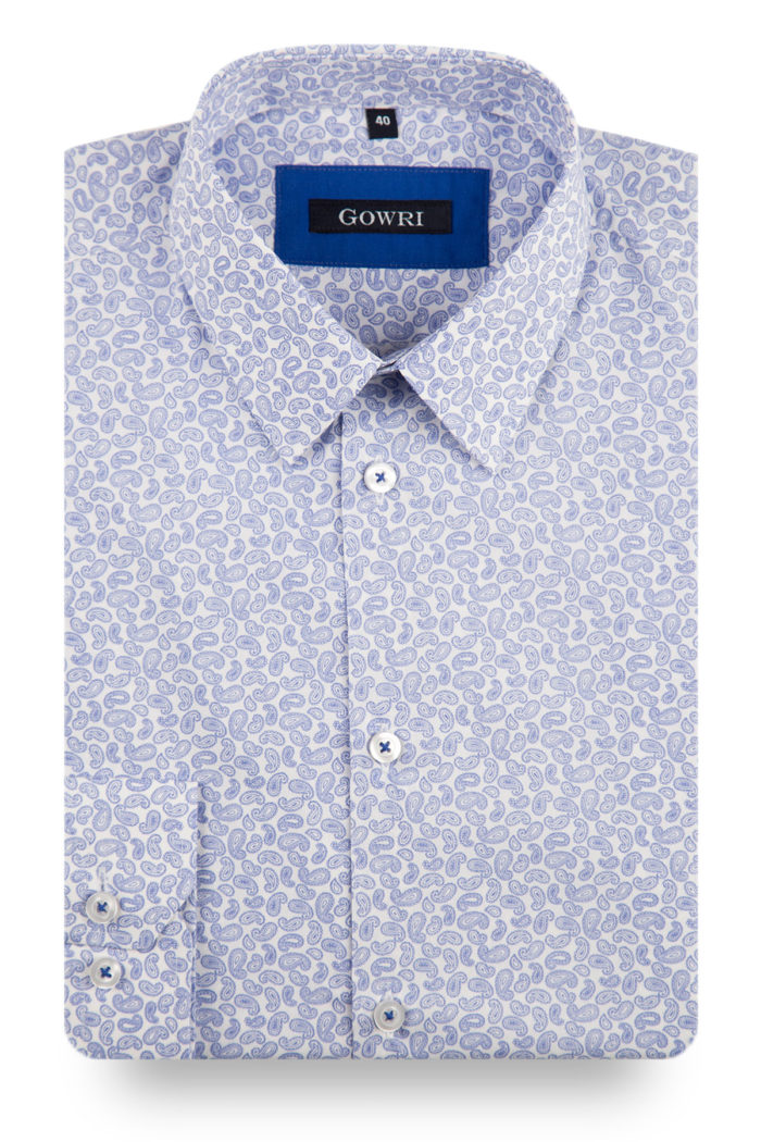 Torquay Light Blue Patterned Shirt