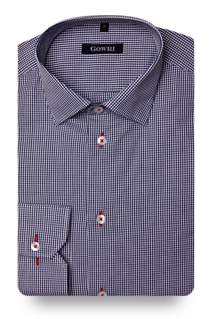 Vichy Checked Stretch Shirt